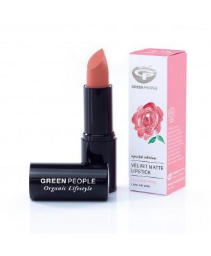 Green People Velvet Matte Lipstick - Damask Rose
