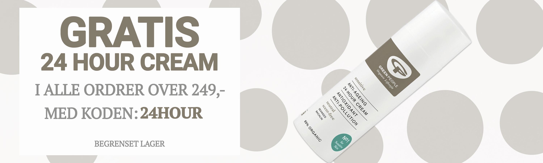 Gratis 24 Hour Cream over 249,- NO