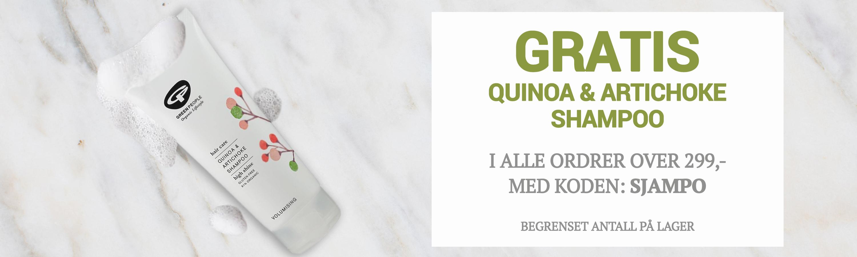 Gratis Quinoa Shampoo over 299,-